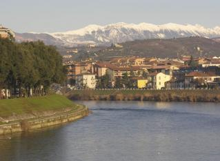 Looking towards the Valpol hills from Verona