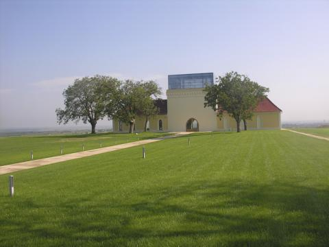 Principovac Cellars, Ilok, Croatia, Serbia in the far distance