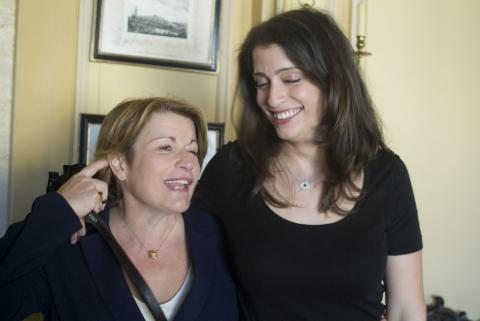 Don't do it, Corinne. Corinne Mentzelopoulos and daughter Alex of Château Margaux