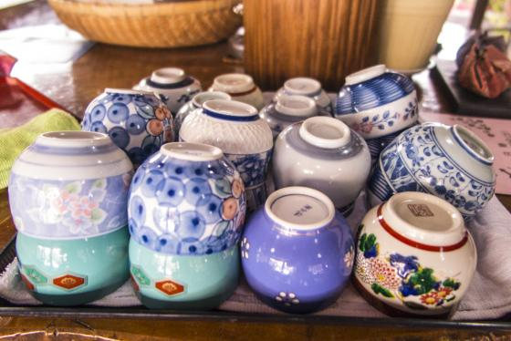 Pretty sake cups (ochoko)