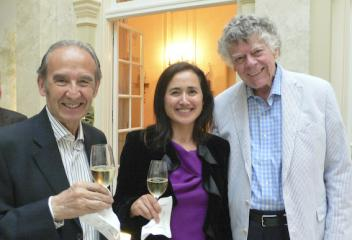 Nicolás Catena and daughter Laura with Gordon Getty