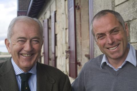 Something to smile about? Alfred Tesseron and his winemaker Jean Michel Comme of Pontet Canet