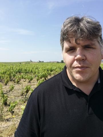 Thibault Liger-Belair in his Moulin-à-Vent vineyard